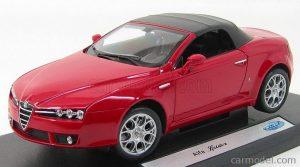 1/18 WELLY ALFA ROMEO - SPIDER 2006 18007HW SOFT TOP Czerwony