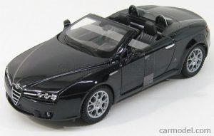 1/24 WELLY ALFA ROMEO SPIDER 2006 WE22484 Open Black Met