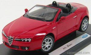 1/18 WELLY ALFA ROMEO - SPIDER 2006 18007W OPEN Czerwony