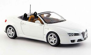 Alfa Romeo Spider 1/43 Minichamps white edizione 2008
