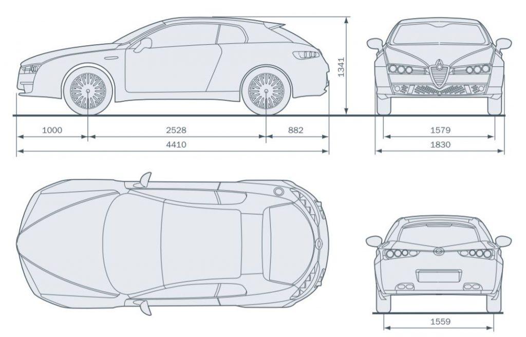 Alfa Romeo Brera - wymiary