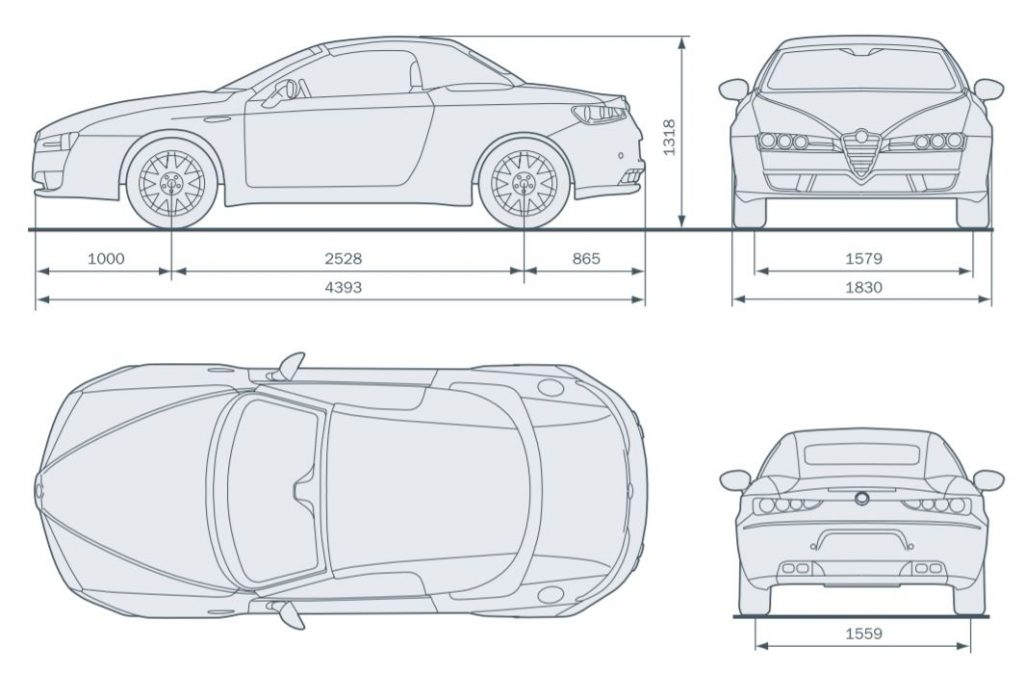 Alfa Romeo Spider - wymiary